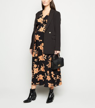 New Look Maternity Floral Button Up Midaxi Dress