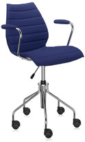 Kartell Maui Soft Swivel Armchair - Blue