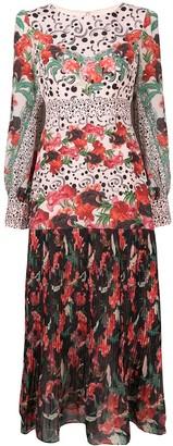 Saloni Floral Dot Print Dress