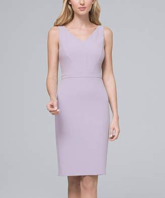 White House Black Market Women's Casual Dresses Cool - Cool Wisteria Body Perfecting Sleeveless V-Neck Sheath Dress - Women