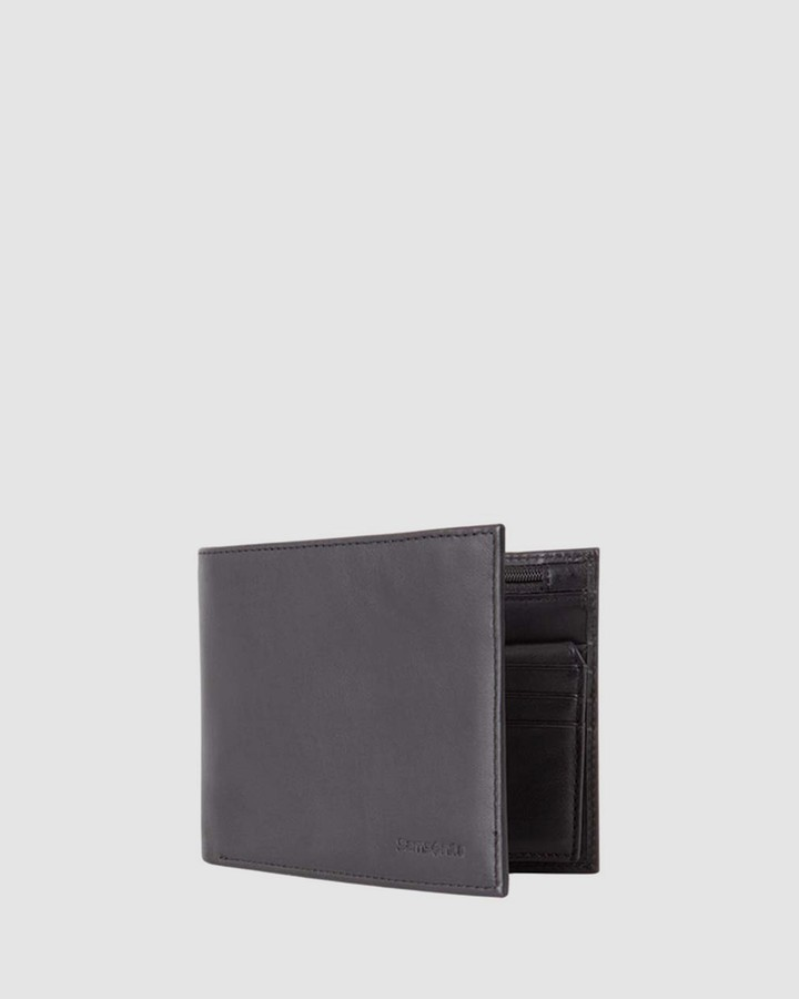 Samsonite Black Bifold - Leather Passport Travel Wallet - Size One Size at The Iconic