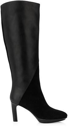 Aquatalia Rayne Knee-High Leather Suede Boots