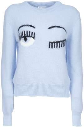 Chiara Ferragni Flirting Eyes Sweater