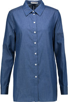 Opening Ceremony Open-back cotton-chambray shirt