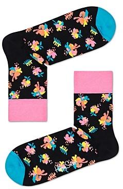 Happy Socks Hibiscus Crew Socks