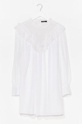 Nasty Gal Womens Oh Crochet Ruffle Mini Dress - White - 8, White