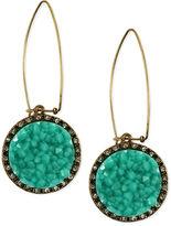 Rachel Roy Earrings, Gold-Tone Glass Turquoise Druzy Linear Earrings