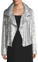 Norma Kamali Sequin Long-Sleeve Jacket