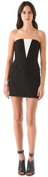 Mason by Michelle Mason Cascade Strapless Dress