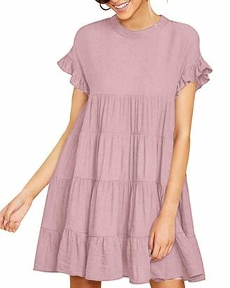 Zanzea High Quality Street Fashion Zanzea Women Cotton V Neck Dress Loose 3/4 Sleeve Ruched Summer Casual Pocket Long Tops Mini Tunic Dresses Grey XL