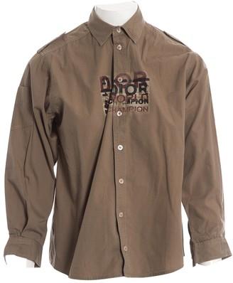 Christian Dior Khaki Cotton Tops