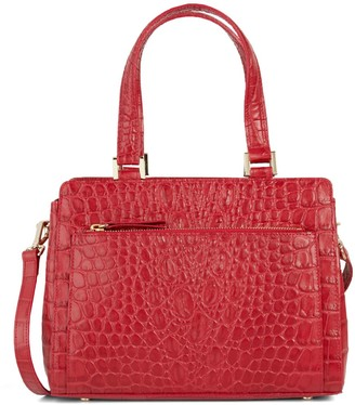 Saks Fifth Avenue Made In Italy Croc-Embossed Leather Satchel