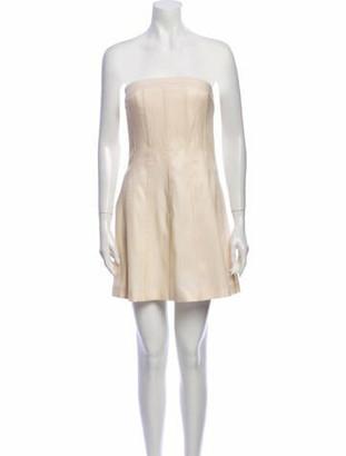 Marina Moscone Virgin Wool Mini Dress Wool