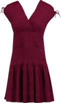 Maje Wrap-Effect Cloqué Mini Dress