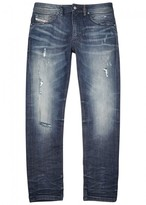Diesel Thommer 084JR Distressed Slim-leg Jeans