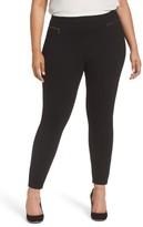 Sejour Plus Size Women's Zip Pocket Ankle Leggings