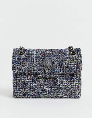 Kurt Geiger London mini Kensington summer tweed cross body bag with chain-Multi