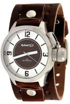 Nemesis #BB032B Men's Premium Wide Leather Cuff Band Russian Diver Watch
