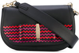 Salvatore Ferragamo Vara flap shoulder bag - women - Calf Leather/Leather/metal - One Size