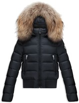Moncler Girls' Alberta Bomber Puffer Jacket - Big Kid