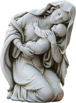 Asstd National Brand 13.5 Kneeling Madonna And Child Outdoor