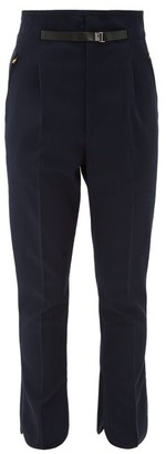 Toga High-rise Belted Trousers - Womens - Navy