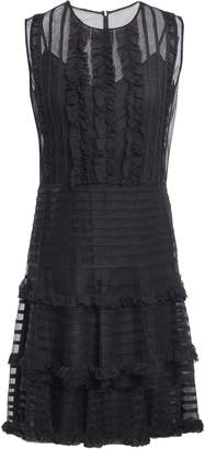 RED Valentino Ruffled Georgette And Tulle Mini Dress