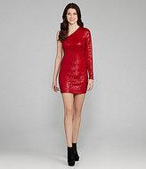 Kensie Sequin One-Shoulder Sequin Dress