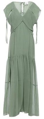 3.1 Phillip Lim Layered Hammered Cotton And Silk-blend Maxi Dress