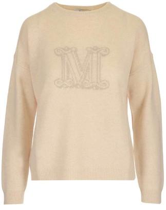 Max Mara Intarsia M Crewneck Sweater