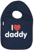 Snuglo I Love Daddy Red Heart On Navy Bib
