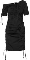 Barbara Casasola Ruched Cotton-gabardine Dress - Black