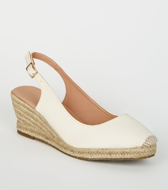 New Look Wide Fit Canvas Espadrille Wedges