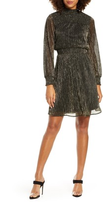 Sam Edelman Metallic Smocked Dress
