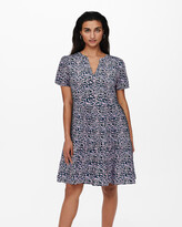 Thumbnail for your product : Only Women's Purple Mini Dresses - Zally Short Sleeve Dress - Size One Size, L at The Iconic