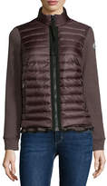 Moncler Maglia Jersey Puffer-Front Cardigan