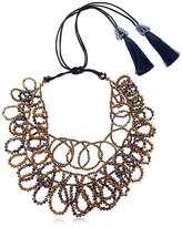 Nightmarket Flat Circles Beaded Necklace