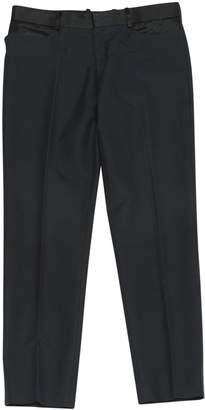 Alexander McQueen Black Cotton Trousers