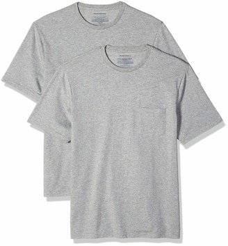 Amazon Essentials Men's 2-Pack Loose-Fit Short-Sleeve Crewneck Pocket T-Shirt