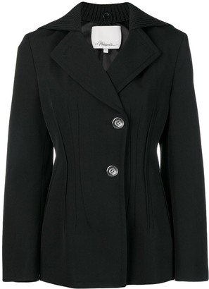3.1 Phillip Lim Detachable-Cape Single-Breasted Blazer