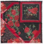 Alexander McQueen rose print scarf