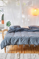 Urban Outfitters Maisie Washed Cotton Tie-Trim Duvet Cover