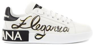 Dolce & Gabbana Portofino Eleganza White Leather Sneaker