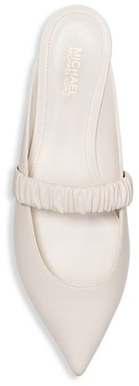 Thumbnail for your product : MICHAEL Michael Kors Raleigh Flat Leather Mules