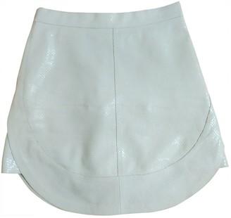Philosophy di Lorenzo Serafini White Leather Skirt for Women