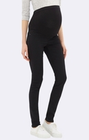 Mavi Jeans Vanessa Skinny Maternity In Double Black