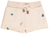 Bellerose Sale - Atsy Embroidered Sweat Shorts
