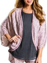 PJ Salvage Printed Open Cardigan