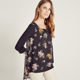 Apricot Feather Silhouette Layer Blouse