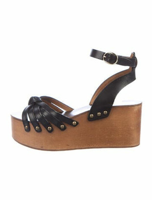 Etoile Isabel Marant Leather Studded Accents Sandals Black
